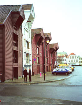Restored sea houses in Stavanger
